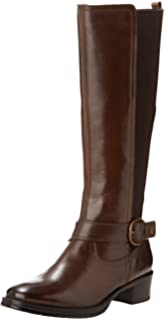 Saxon Botas de mujer Equileather tipo zahones, talla XS, color negro, mujer, 514357, marrón, X-Large