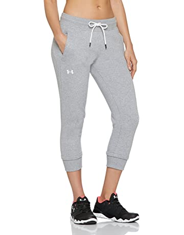 88f93c5ecda41 Under Armour 1320610 UA Slim Leg Crop - Pantalón de felpa para mujer