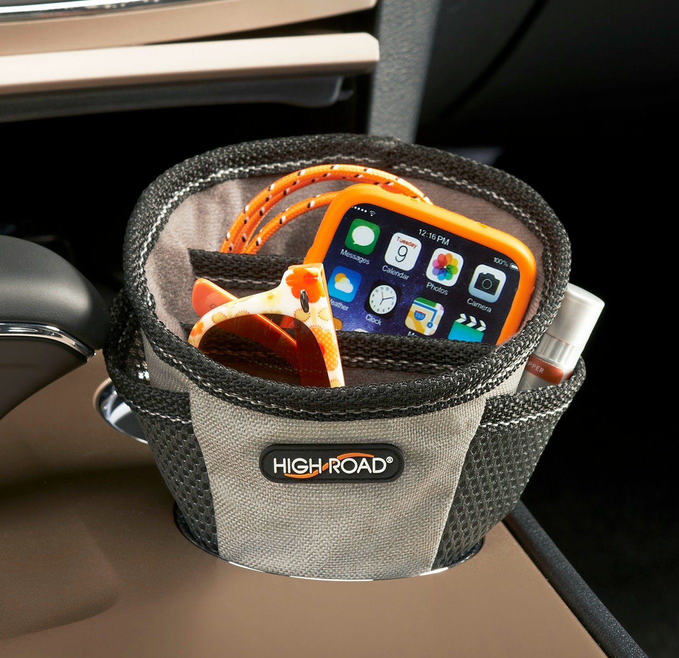 High Road Cupholder Cell Phone Holder and Charging Station