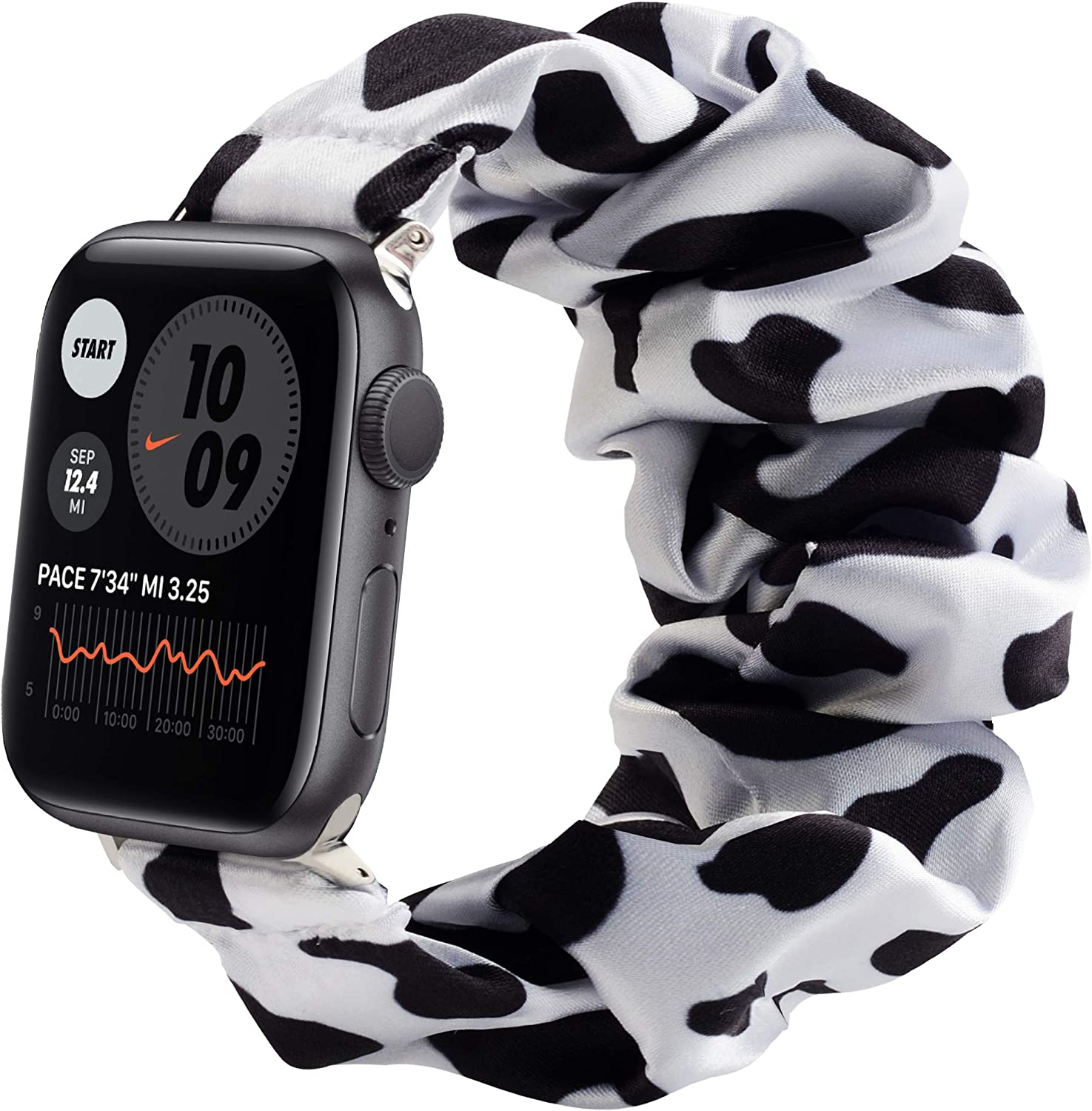 Compatible with Apple Watch Band Scrunchie Elastic Band for iWatch Series SE 6 5 4 3 2 1 & 38mm 40mm