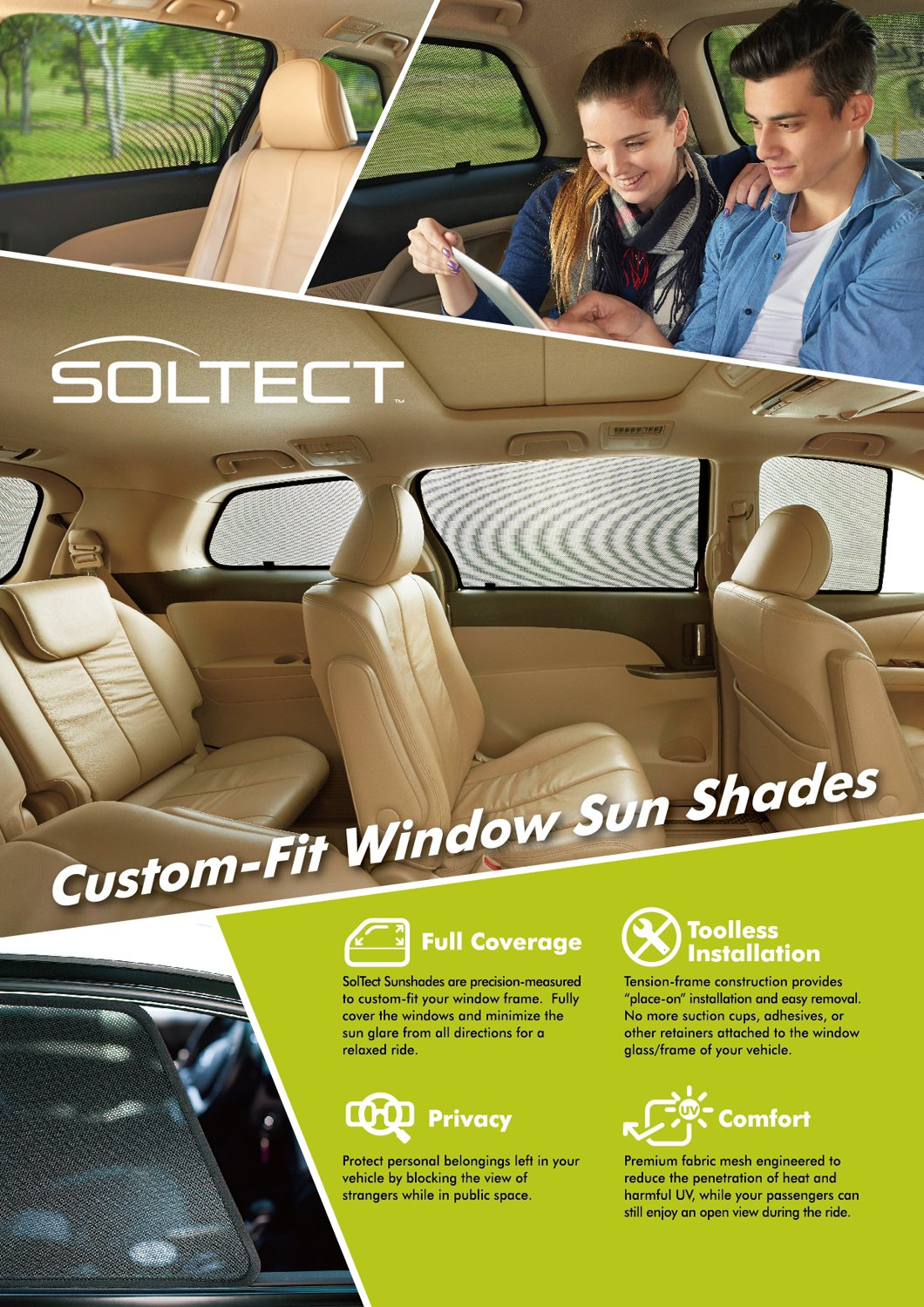 3D MAXpider S1VV0150 3D Soltect Complete Set Custom Fit Sun Shades for Select Volvo XC60 Models by 3D MAXpider (Image #2)