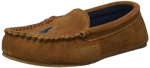 Ralph Lauren Desmond Moc 991659 - Mocasines Unisex para niños, color Marrón (snuff suede w navy fleece lining), talla 38: Amazon.es: Zapatos y complementos