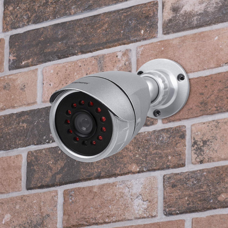 Smartwares Dummy Kamera Kamera Attrappe Für Innen Und Außeneinsatz Metallgehäuse Infrarot Leds Cdm 34552 Baumarkt