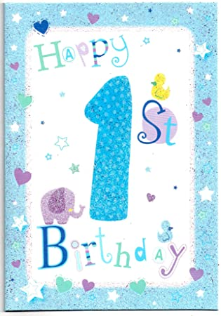 Childrens Birthday Card For One 1 Year Old Boy