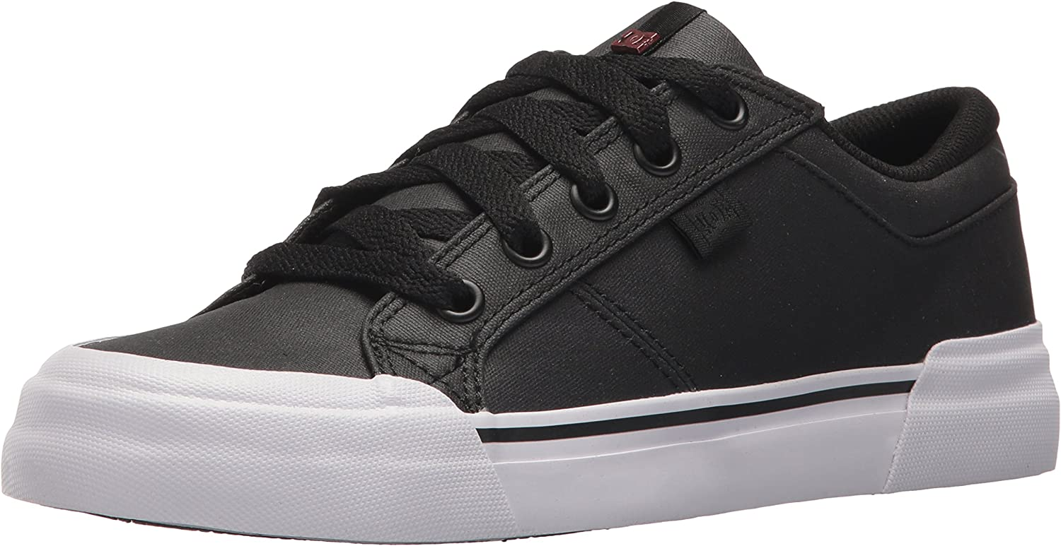DC Women s Danni Tx Se Skate Shoe, Black White, 5 B US