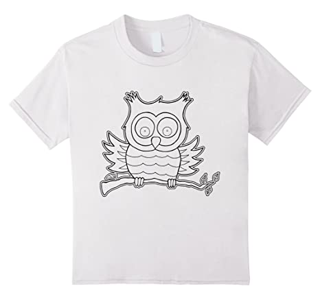 Owl T-Shirt to color in