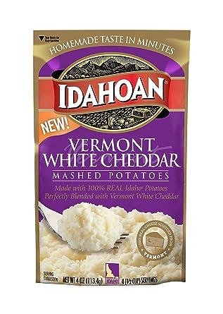 Idahoan Vermont – Patatas de cheddar blancas, hechas con 100 ...
