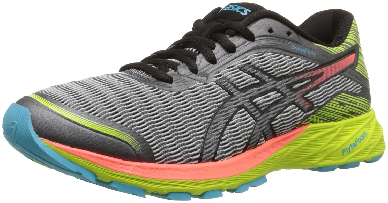 ASICS Women's Dynaflyte Running Shoe B017USPKKY 5 B(M) US|Mid Grey/Flash Coral/Safety Yellow