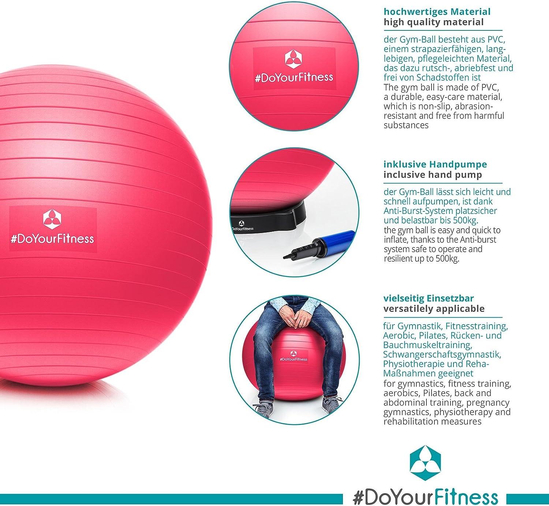 Ballon de gymnastique 55 cm avec pompe Yoga Fitness Pilates Gymnastique Gymball büroball
