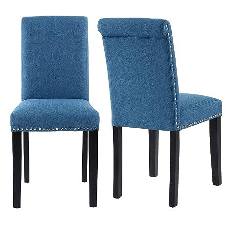 Amazon.com: THKSBOUGHT - Juego de 2 sillas de comedor estilo ...