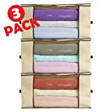 Ziz Home Blankets Clothes Storage Bag 3 Pack