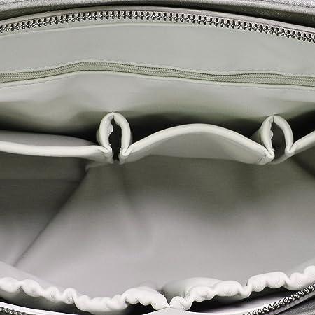Herzmutter Bolso de Pañales-Cochecito - Bolsa de Pañales - incluyendo Cambio de la almohadilla - Multifuncional-Espacioso-Elegante - 4000 (Negro)