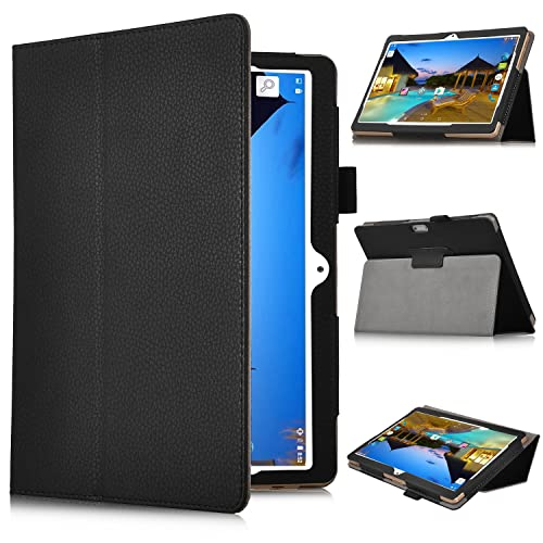 ibowin P130 10.1, YUNTAB 10.1 Case, KuGi ® YUNTAB 3G Tablet 10.1 inch Case -Multi-Angle Stand Slim Book PU leather Cover Case for YUNTAB 3G Tablet 10.1 inch 3g / ibowin P130 10.1 / AnTeck 10 Inch 3G Phablet Tablet (Black)