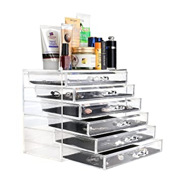 Merveilleux MVPOWER Acrylic Makeup Organizer Jewelry And Cosmetic Storage Cases 6 Tier  Drawers Storage Case