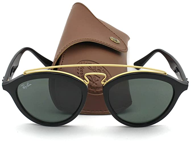 Ray-Ban RB4257 Retro-modern Women Sunglasses (Black Gold ...