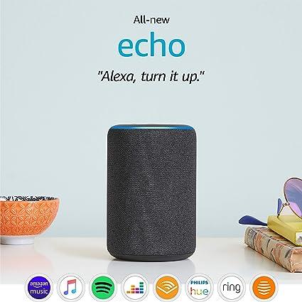 All New Amazon Echo 3rd Generation Smart Speaker With Alexa