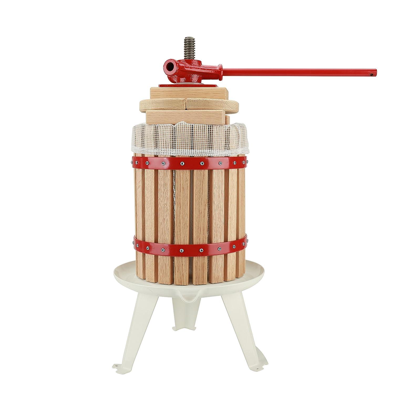 Fruit Wine Press 3.2 Gallon Cider Apple Grape Crusher Juice Maker With Solid Wood Basket