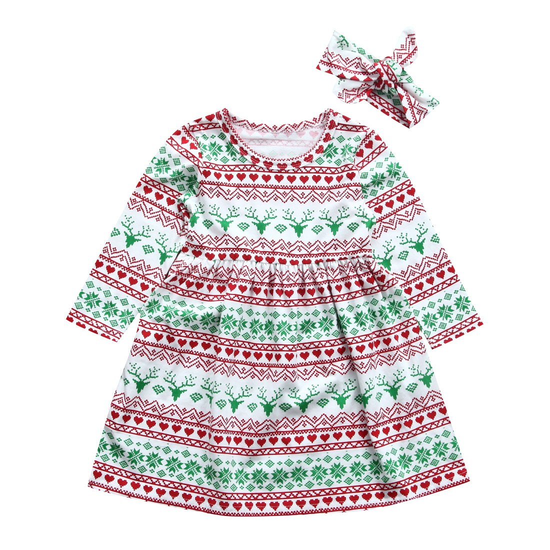 43121f2e8a3c Emmababy Toddler Kids Baby Girl Christmas Costume Long Sleeve Tutu ...