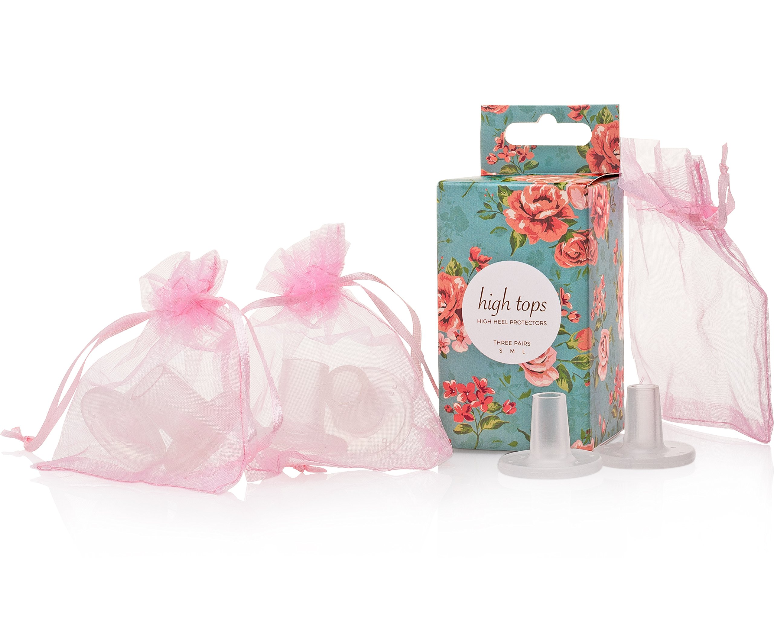 High Heel Protectors THREE SIZES Stoppers for Small/Medium/Large Stiletto High Heels Shoes - Walk in Grass At Weddings & Outdoor Events with No Sinking