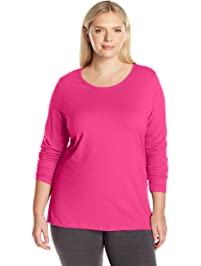 Just My Size Womens Plus Long Sleeve Tee Shirt