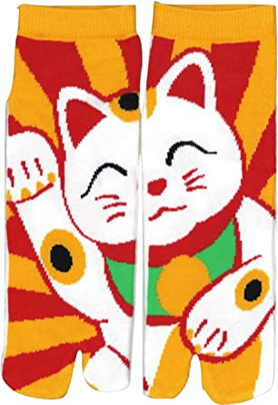 Japanese Ninja Tabi Socks Shinobiya Original: Maneki Neko