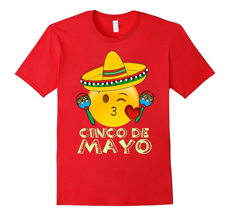 Emoji Cinco De Mayo Shirt Kids Women Kiss Sombrero Maracas-TH