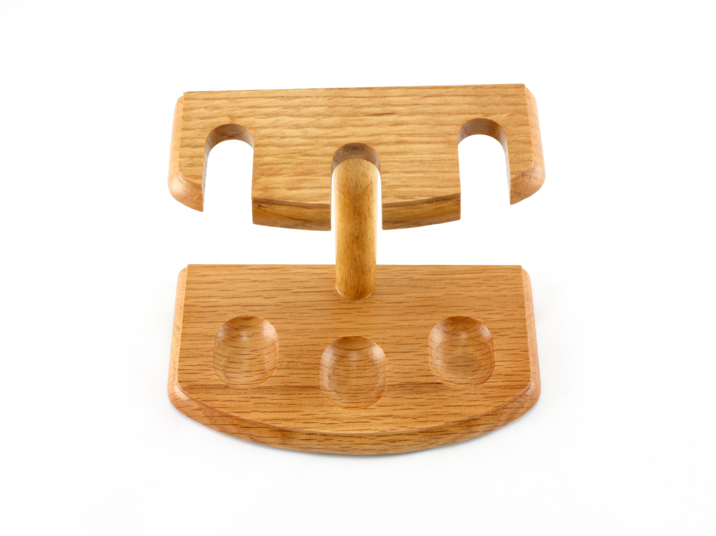 Skyway 3 Pipe Wood Tobacco Pipe Stand Rack Holder - Tan by Skyway Products
