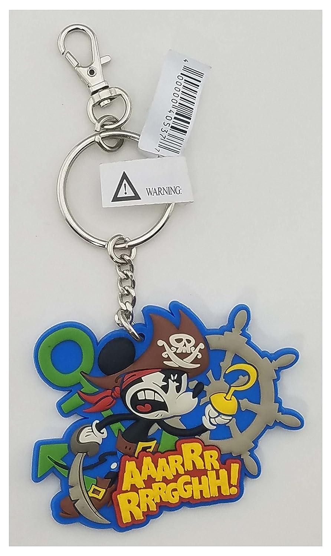 Disney Parks Keychain - Soft Touch Mickey Pirate - AaaRrrrrrGGHH!