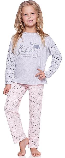 Merry Style Pijamas Conjunto Camisetas Mangas Largas y Pantalones Largos Ropa de Dormir de Cama Interior