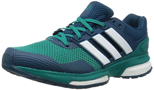 adidas Men's Response Boost 2 Running Shoes, Green (EQT Green S16/Ftwr White