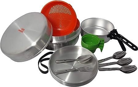 Cao Camping 4 Aluminium - Set de Cocina para Acampada, Talla 4,5 l