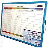 Planning hebdomadaire magnétique, memo, tableau d'affichage, marqueur effaçable de Vital Trends©