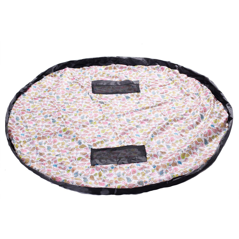 HIMRY® hidrófugo 151 cm Estera del juego y juguetes almacenamiento bolsa, XXL alfombra, niños jugar Mat. Rápidamente limpieza organizador del almacenaje, portátil al aire libre manta actividades alfombra, Pájaro colorido, KXD4006 colorfulbird KXSHOP KXD400