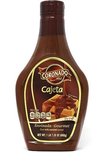 Coronado Cajeta Envinada - Gourmet Goat Milk Caramel Spread (Squeeze Bottle) 23.3 oz