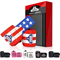 Bear Grips Wrist Wraps Set - Superior Wrist Wraps for Weightlifting, Heavy Duty Lifting Wrist Wraps Support for Men…