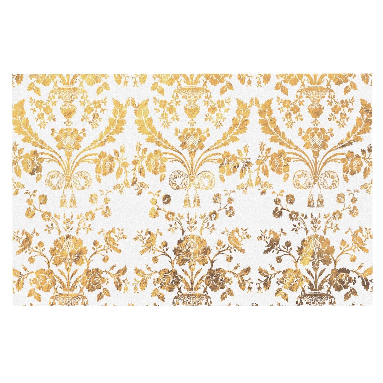 Kess InHouse Alison Coxon Indian Summer Purple Teal Abstract Decorative Door 2 x 3 Floor Mat