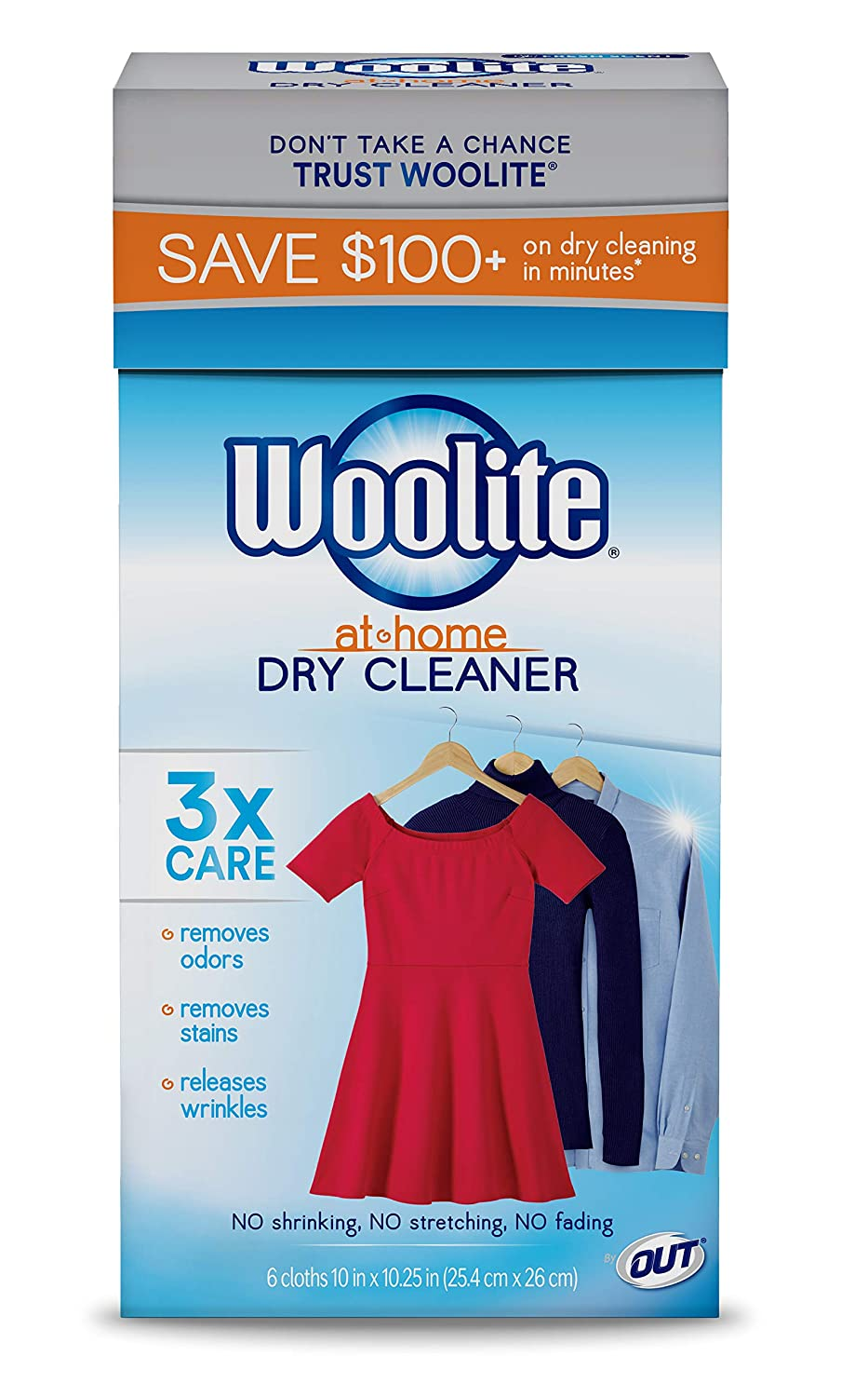 (24 Cloths, Fresh Scent) - Woolite At Home Dry Cleaner, Fresh Scent, 4 Pack, 24 Cloths B00U62ZE80 Fresh Scent 24 Cloths
