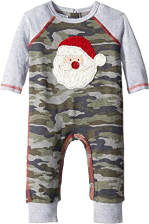 90033ef83c28 Amazon.com  Mud Pie Mens Christmas Camo Santa Long Sleeve One-Piece ...