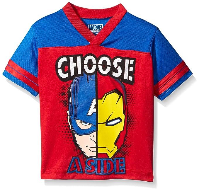 36b64d9f52ce6 Marvel Little Boys' Toddler Avengers Athletic T-Shirt, Red, 2T ...