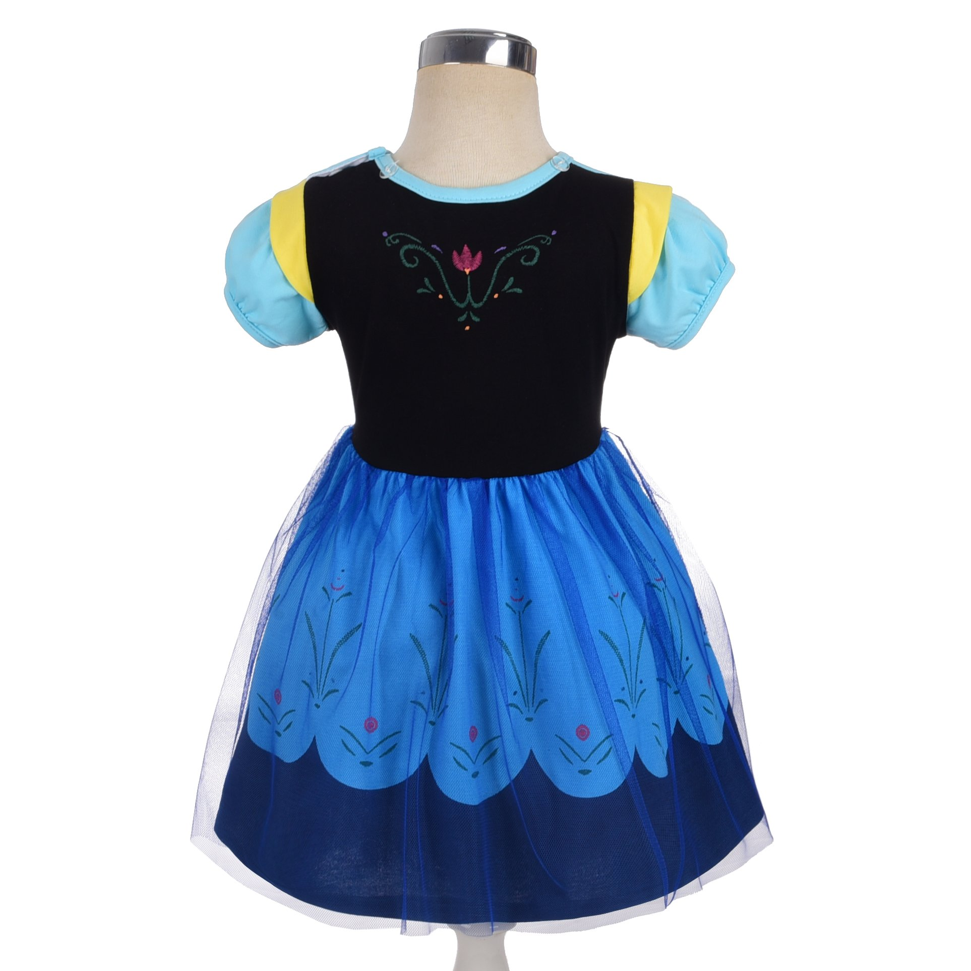 Dressy Daisy Princess Anna Dress for Toddler Girls with Cape Halloween Fancy Party Costume Dress Size 2T by Dressy Daisy (Image #4)