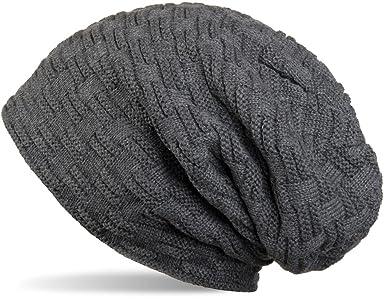 THENICE Bonnet Hiver Chapeau tricoté Homme Beanie Hats, Bleu Marine, Taille  Unique Amazon.fr Vêtements et accessoires
