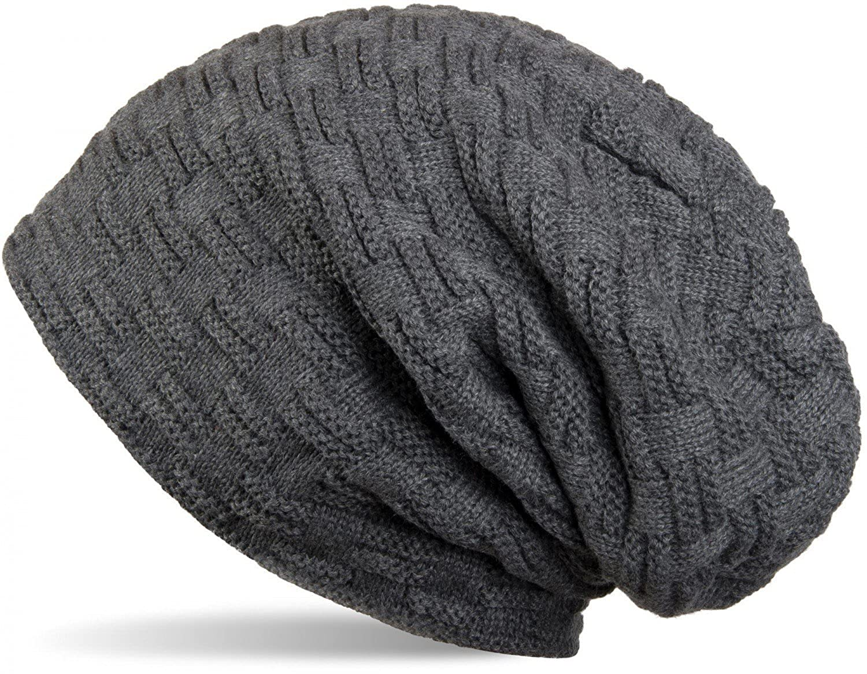 f8935d1d7e66 THENICE Bonnet Hiver Chapeau tricoté Homme Beanie Hats, Bleu Marine, Taille  Unique  Amazon.fr  Vêtements et accessoires