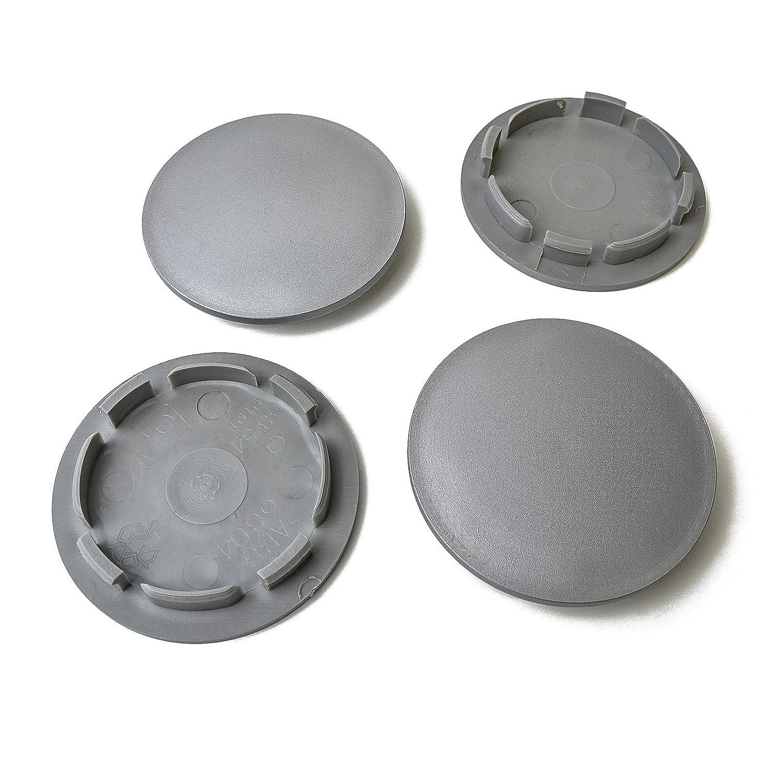 Tapabujes de 63 / 54 mm, en gris, para llantas de Audi, Seat, Skoda, Volkswagen (4 unidades): Amazon.es: Coche y moto