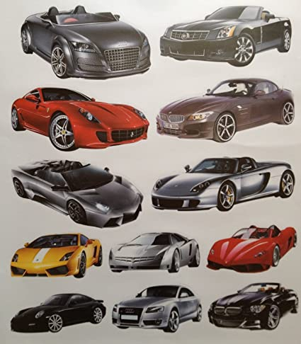 Cool Luxury Sports Cars Collection   Action, Excitement, And Energy Peel  And Stick Wall