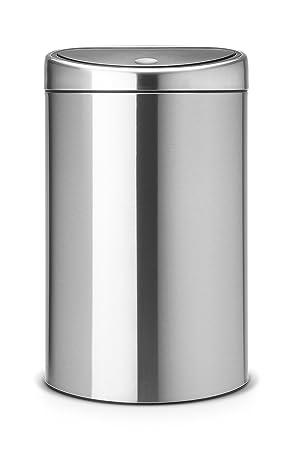 Brabantia Touch Bin 40 50 Liter.Brabantia Touch Bin 40 L Matt Steel With Fingerprint Proof Lid