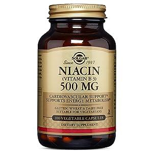 Solgar, Niacin Vitamin B3 500 Mg Vegetable Capsules, 100 Count
