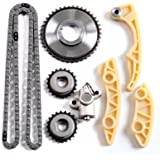 SCITOO 94202S Timing Chain Kit Tensioner Guide Rail Cam Sprocket Crank Sprocket Oil Pump Chain Compatible