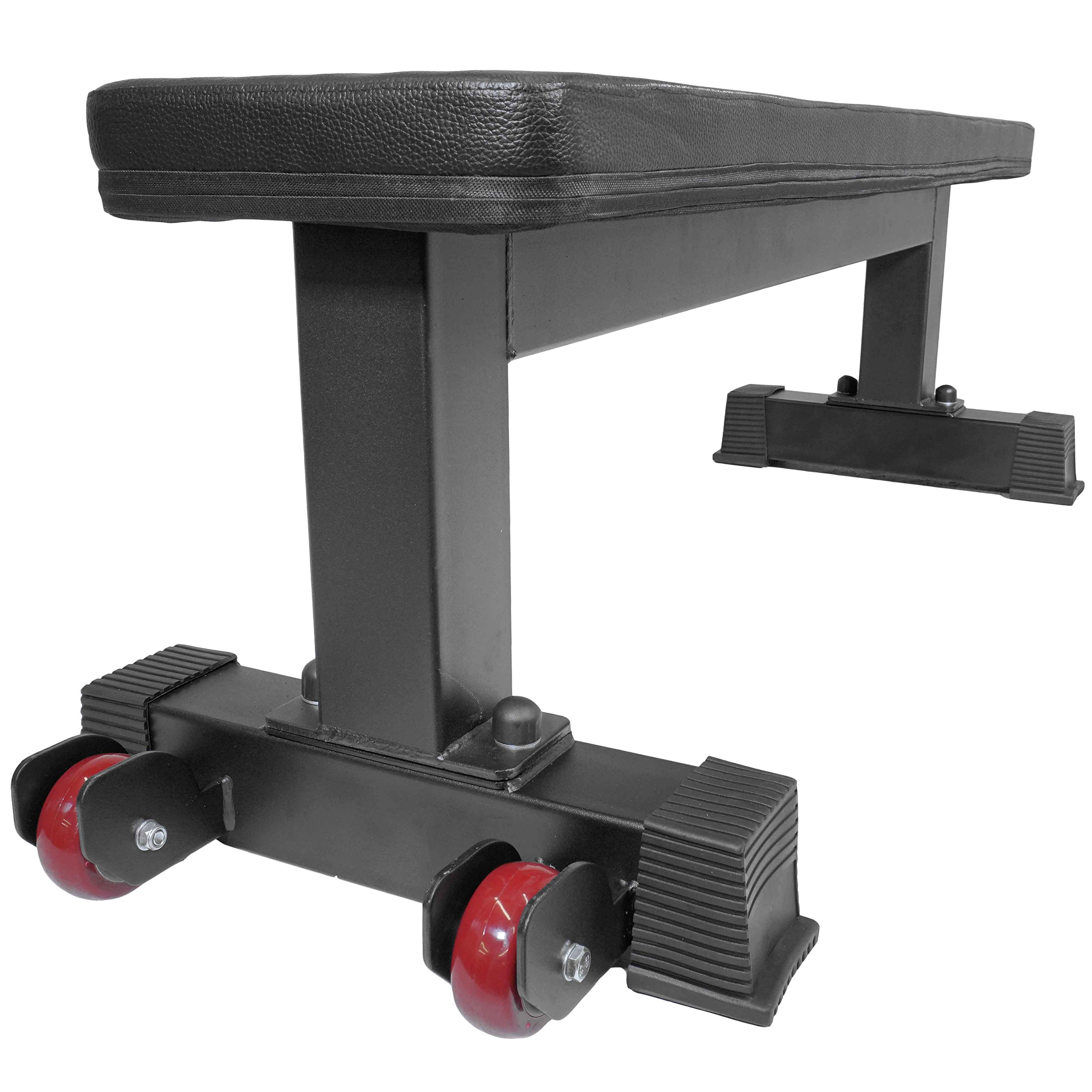 Titan Fitness Flat Weight Bench 1,000 lb Rated Capacity w/ Handle & Wheels by Titan Fitness (Image #4)