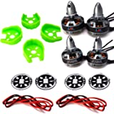 LHI MT2204Ⅱ 2300KV Brushless Motor 2CW 2CCW + 4 Pcs Motors Protected Base +4 Pcs LED Circle Board For FPV QAV250 RC Racing Quadcopter Multicopter
