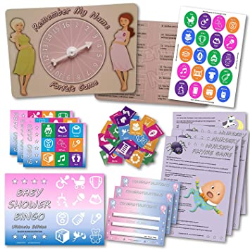 Baby Shower Party Games 3 Games 20 Players Pc Amazon Co Uk Baby
